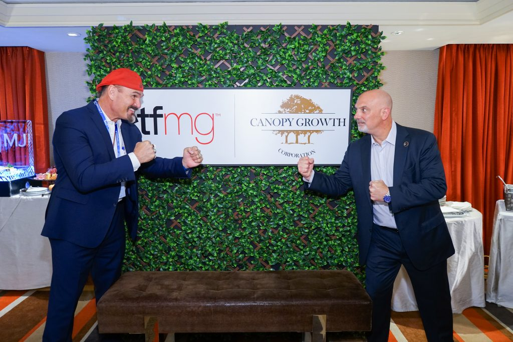 SALT 2019 ETFMG/Canopy Growth Corporation cocktail event Najarian and Masucci